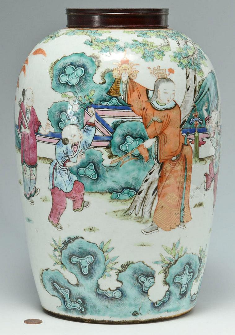 Lot 222: Large Chinese Famille Rose Ginger Jar