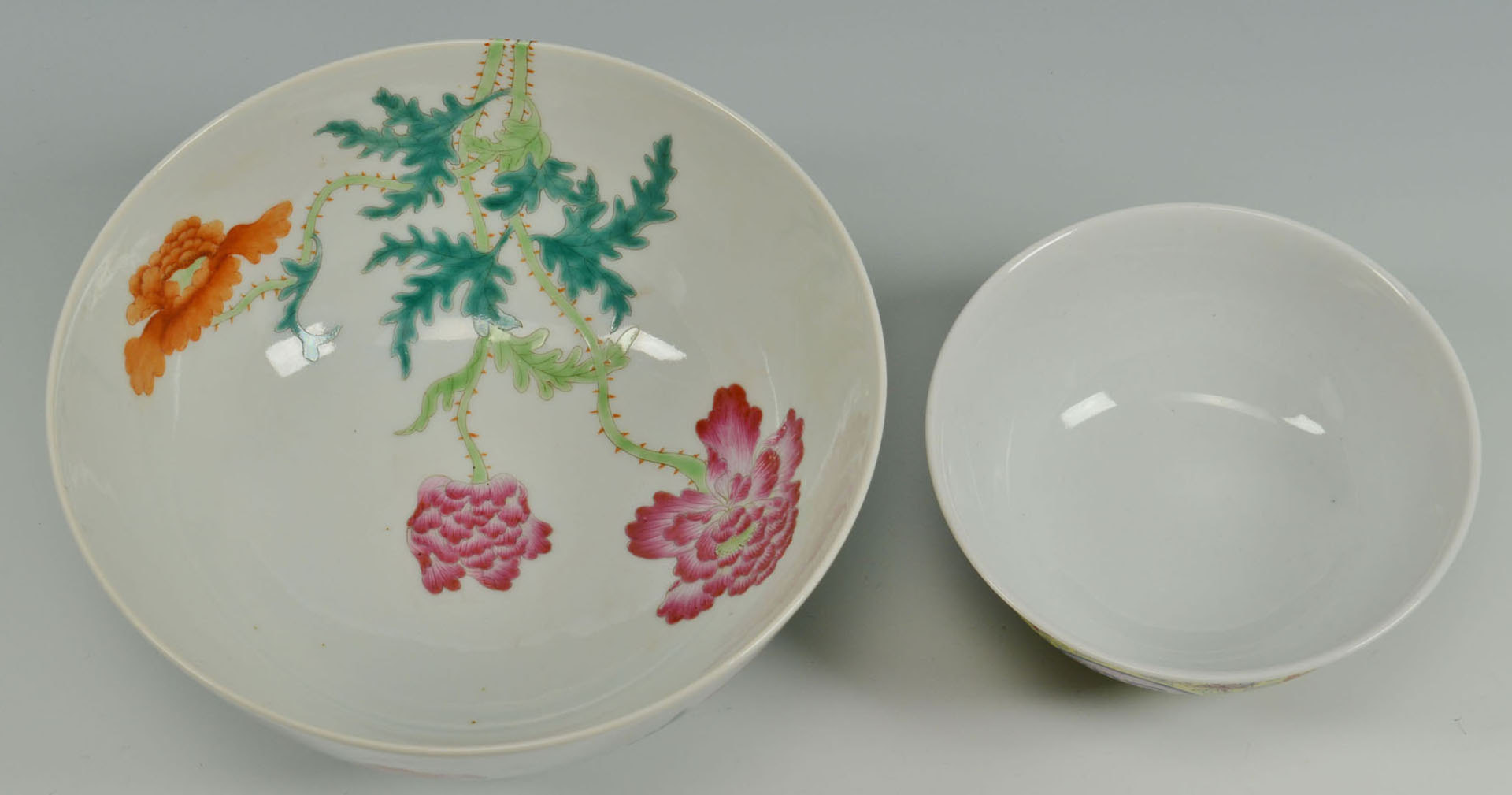 Lot 224: 2 Chinese Famille Rose Bowls