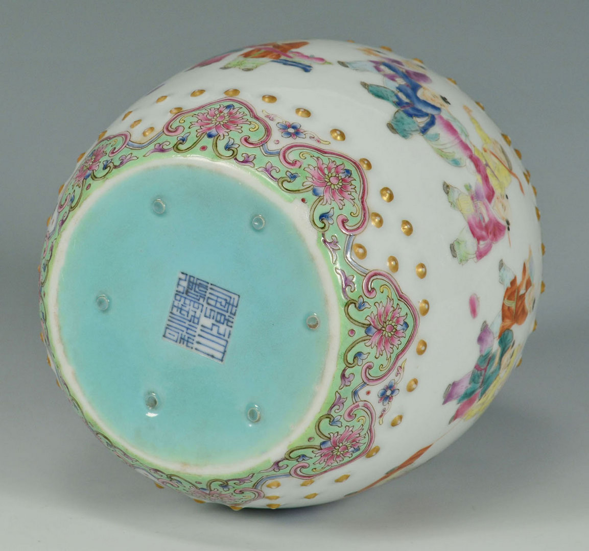 Lot 226: Chinese Famille Rose Miniature Garden Seat