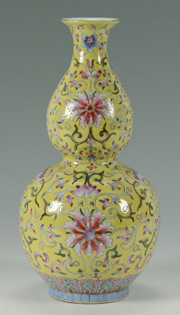Lot 229 Chinese Famille Rose Double Gourd Vase
