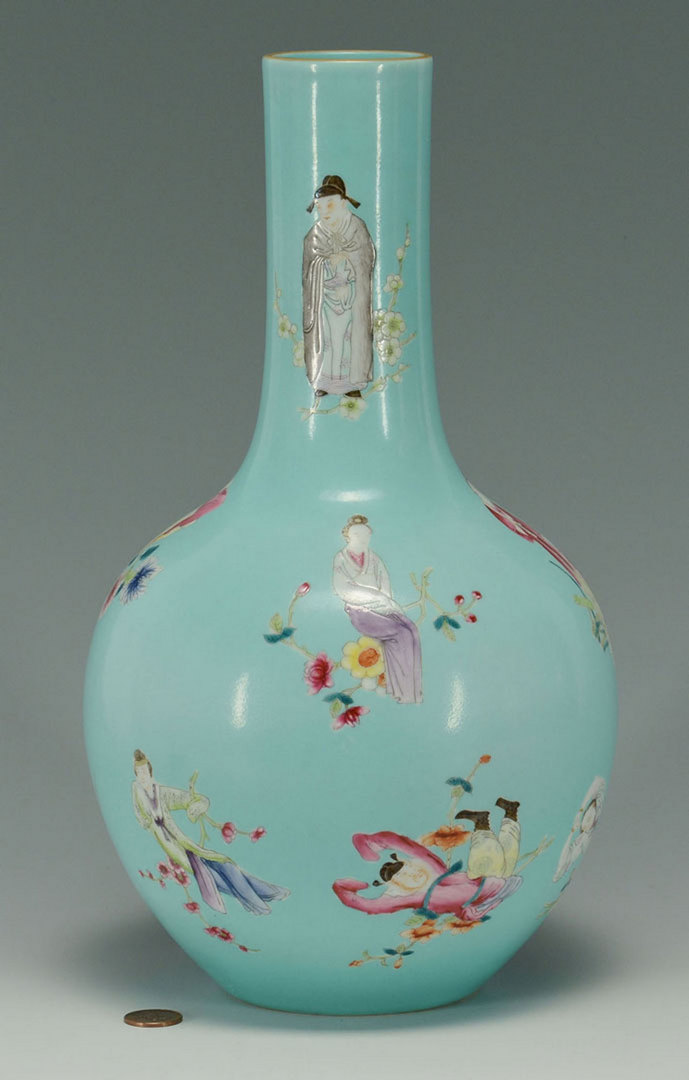 Lot 22: Chinese Famille Rose Bottle Vase