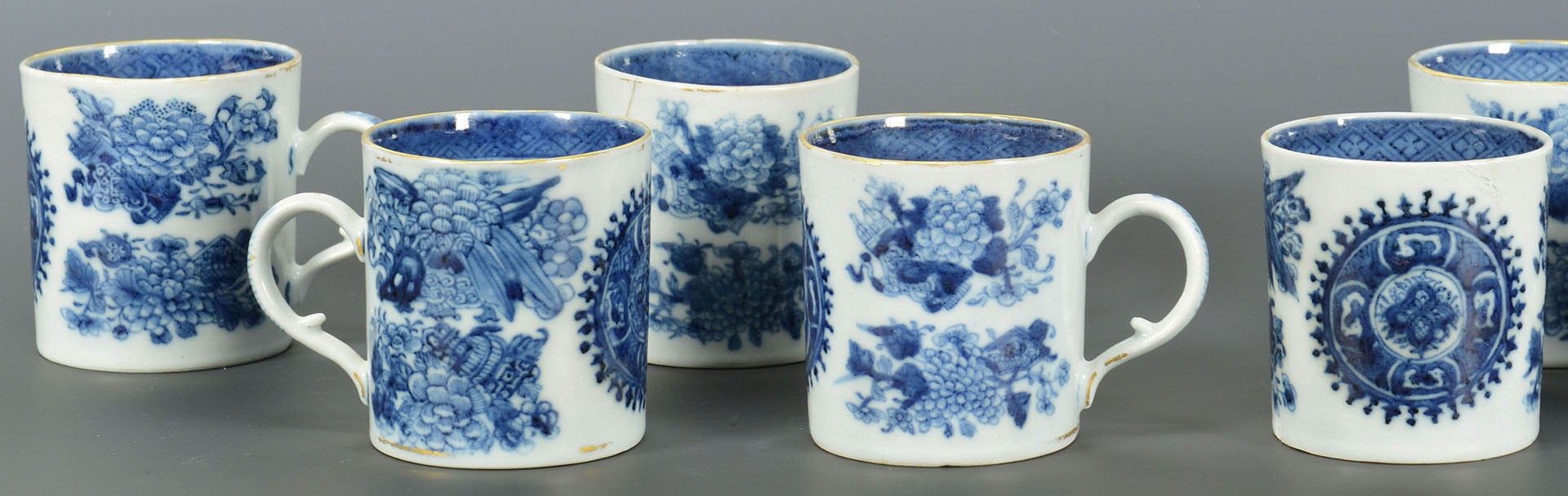 Lot 230: 18 pcs assorted Fitzhugh Chinese Export porcelain