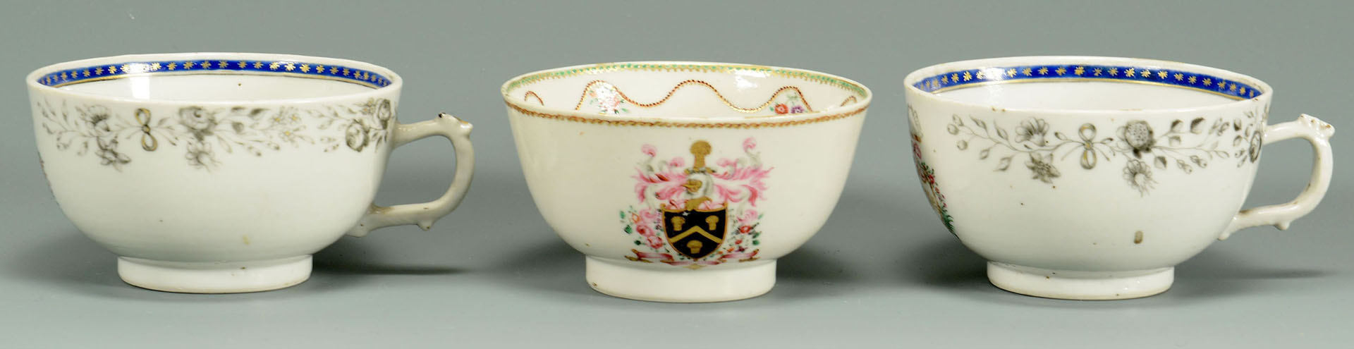 Lot 231: 5 pieces Chinese export armorial porcelain, 18th c