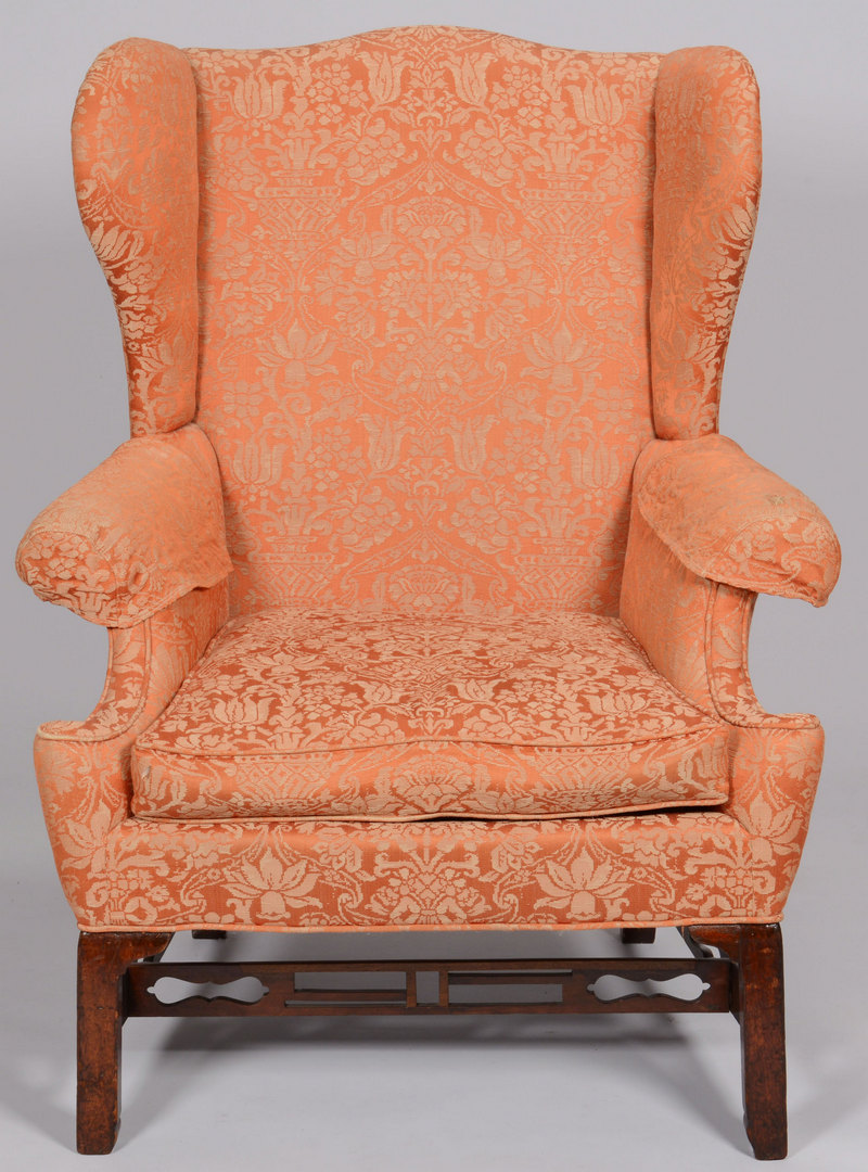 Lot 255: Chippendale Period Easy Chair, Chinese Taste