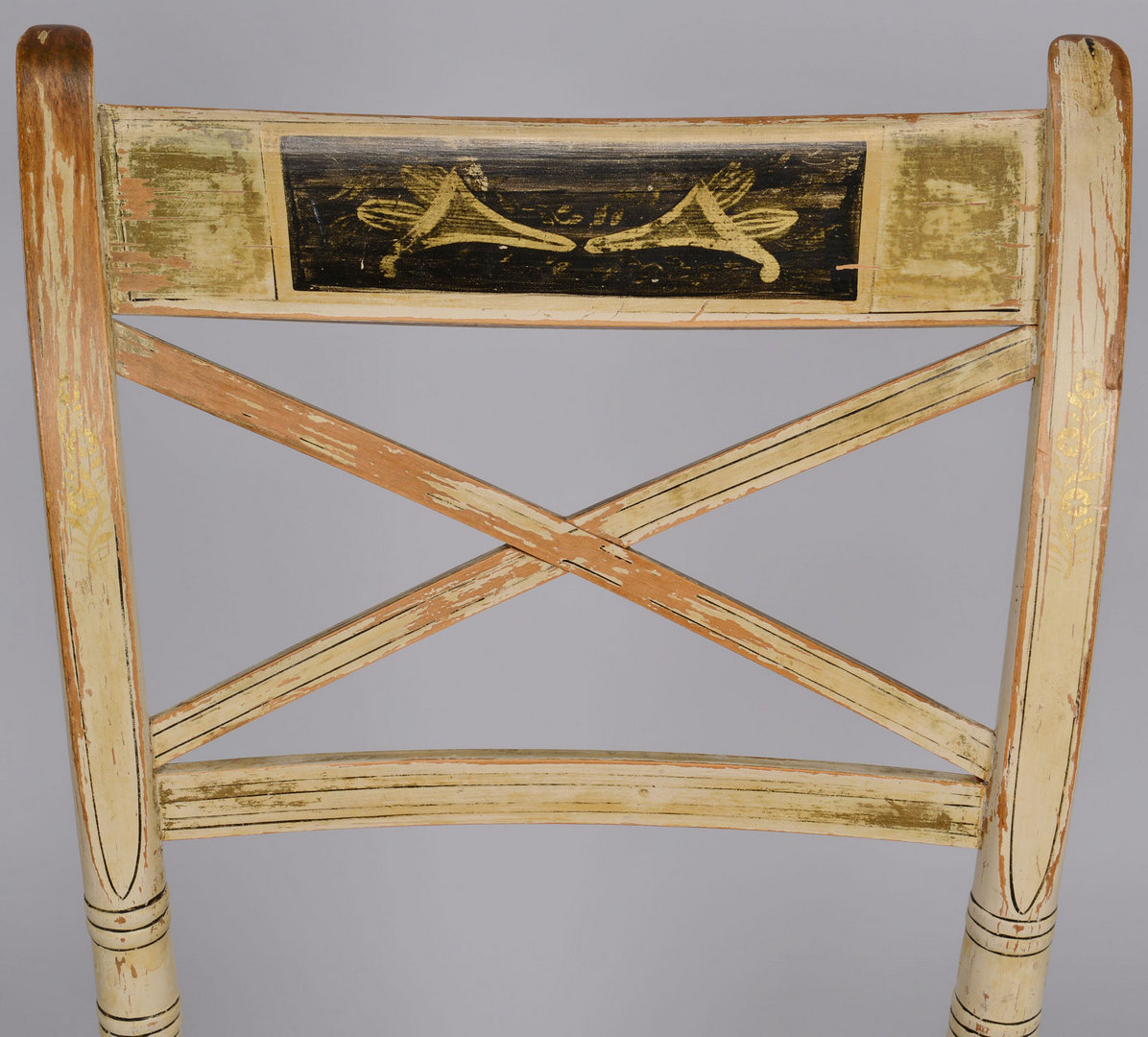 Lot 256: Fancy Painted Chair and Sheraton Armchair, 2