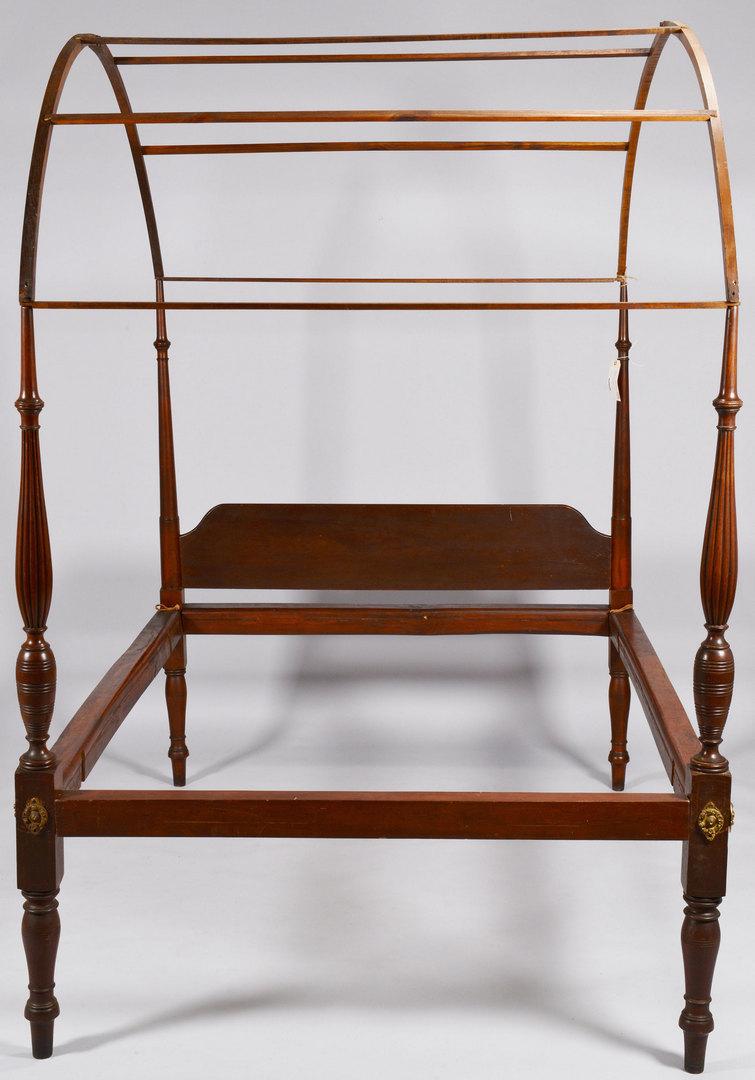 Lot 258: Mahogany Federal Field Bed, circa 1800