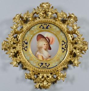 Lot 25: Royal Vienna Plate W/ Florentine Frame