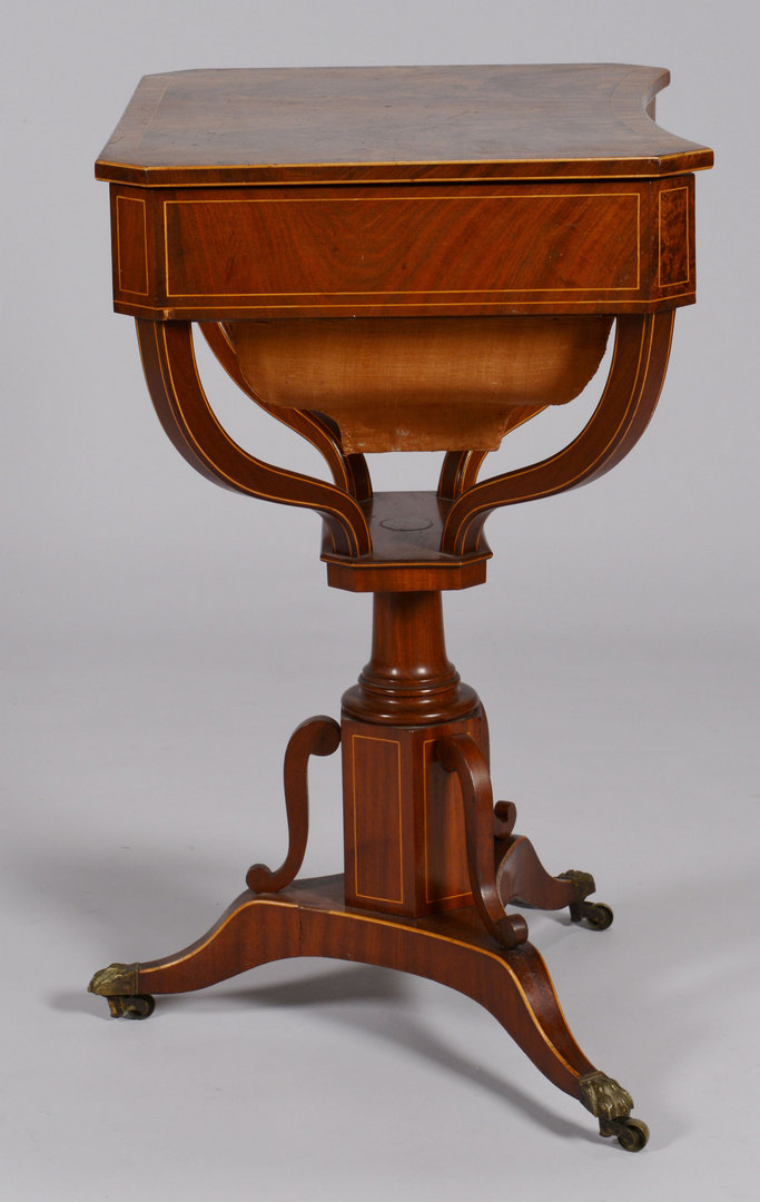 Lot 261: Inlaid Classical Sewing Stand, Possibly English