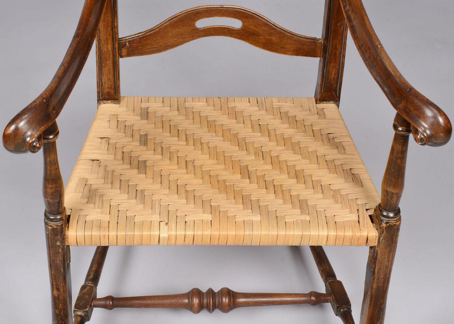 Lot 263: Provincial slat back armchair