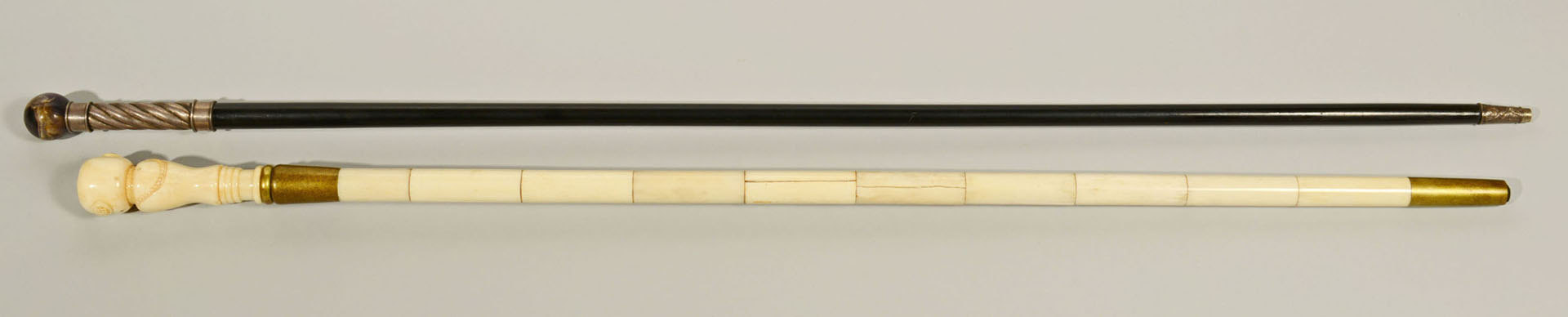 Lot 264: Lot of 2 Canes, Bone & Marble