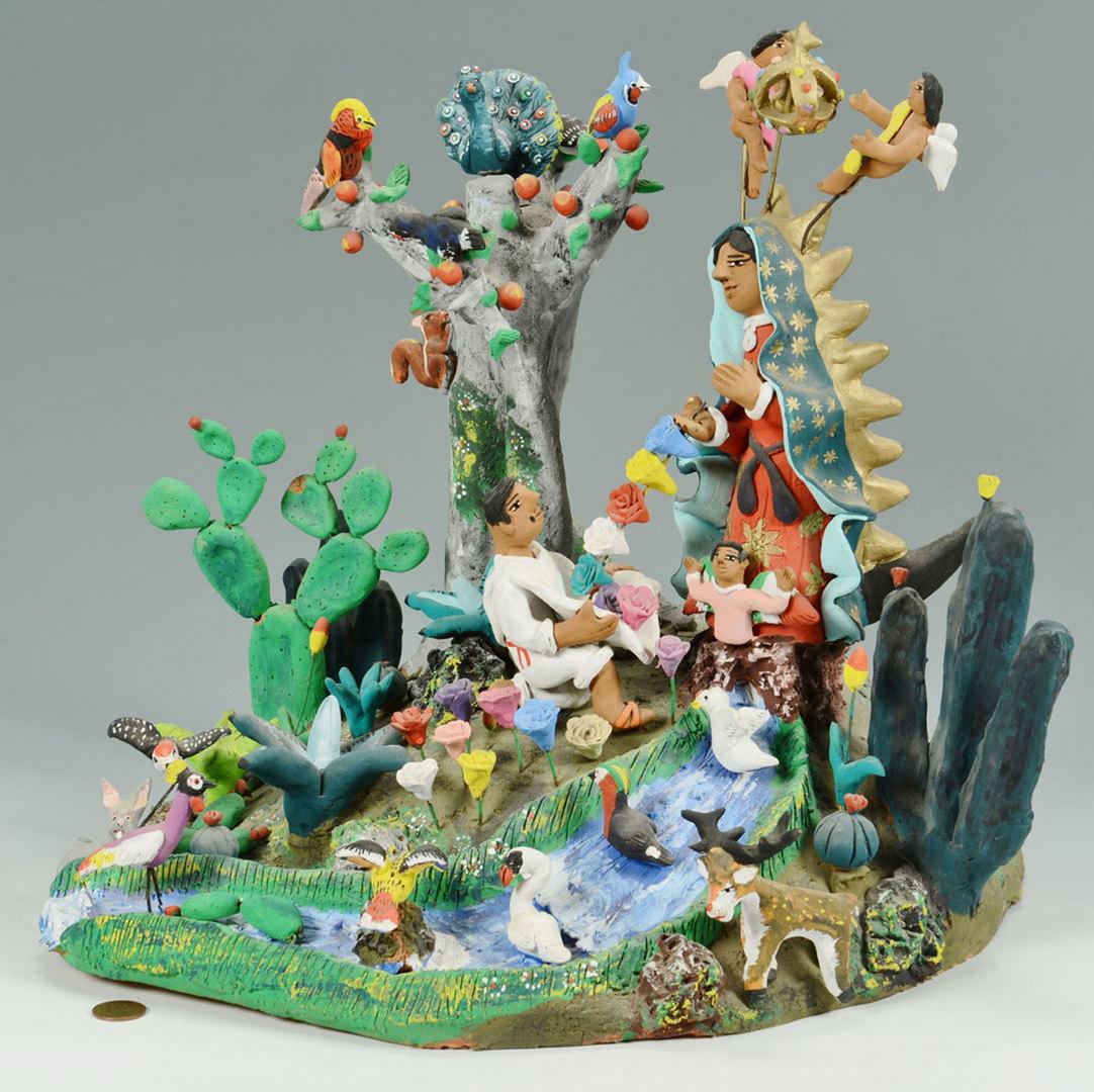 Lot 270: Mexican Folk Art Sculpture, Josefina Aguilar