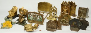 Lot 275: Group of 11 Pairs of Bookends, mostly bronze