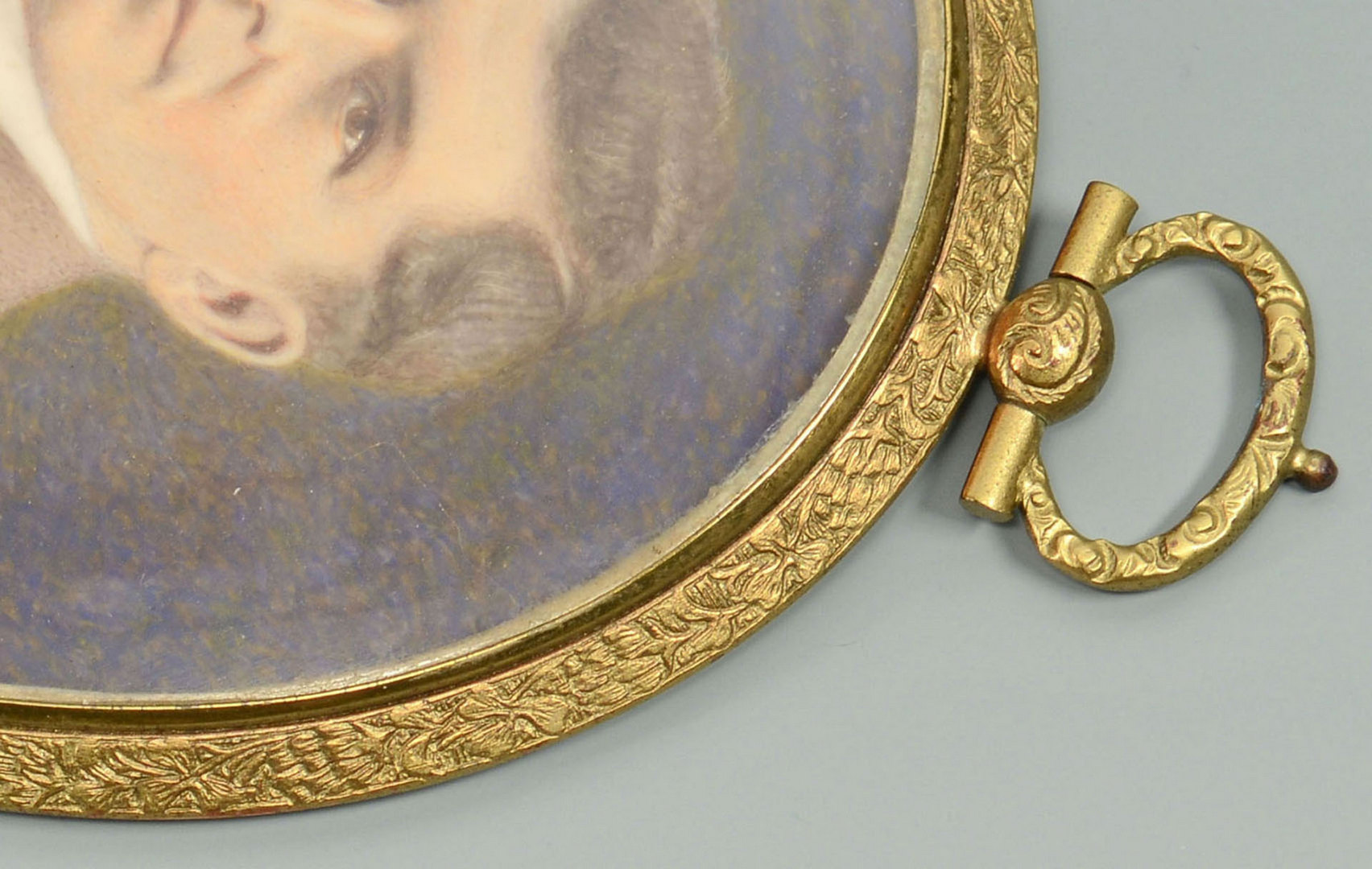 Lot 276: Oval miniature on ivory signed MB Rosenbaum