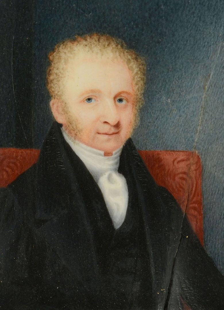Lot 277: Gilt framed miniature portrait of a gentleman