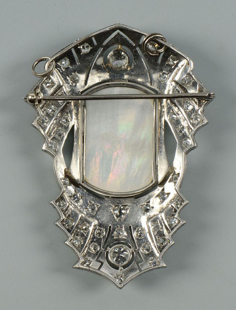 Lot 281: Antique Diamond Brooch/pendant w/ Virgin Mary