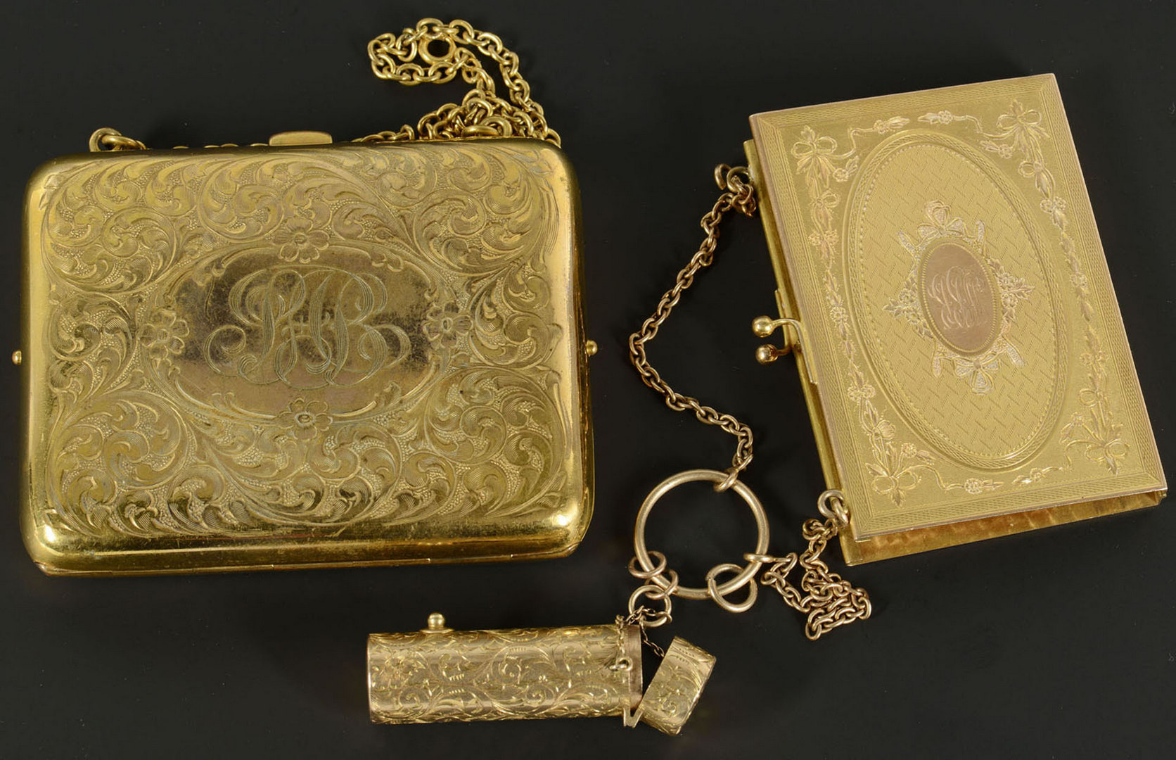 Lot 286: Lady's 14k Book Cover & Lipstick Case