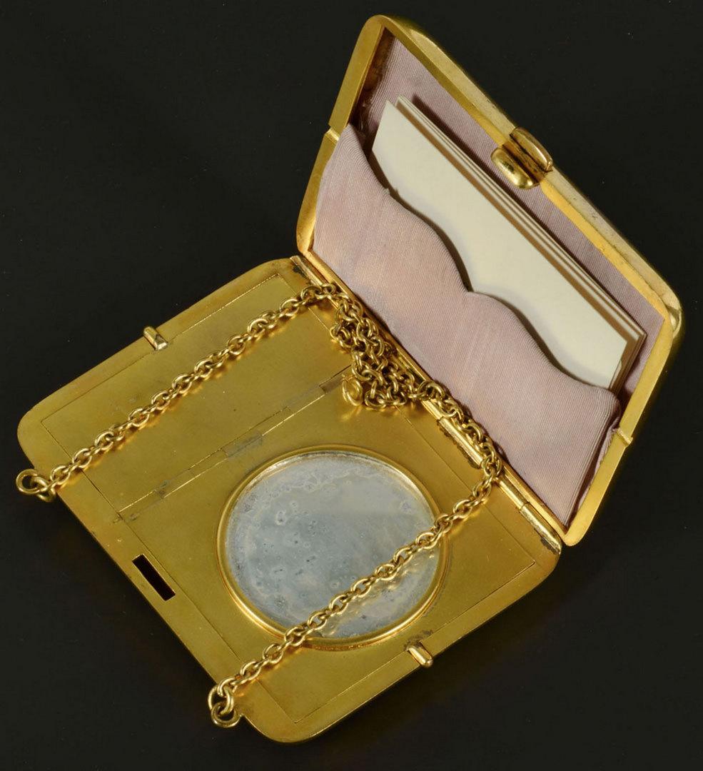Lot 286: Lady's 14k Book Cover & Lipstick Case