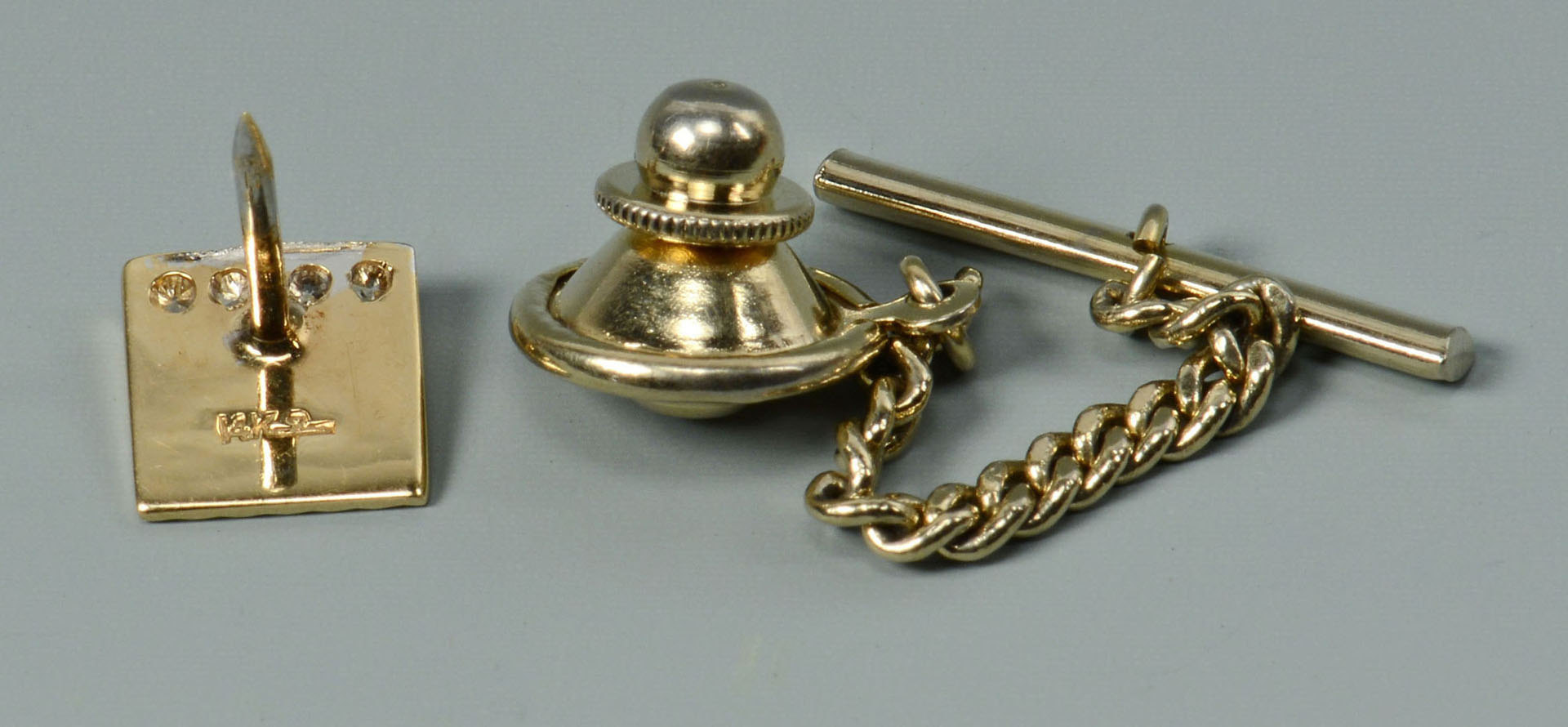 Lot 290: Grouping of 14K Gold Men's Jewelry, 3 items