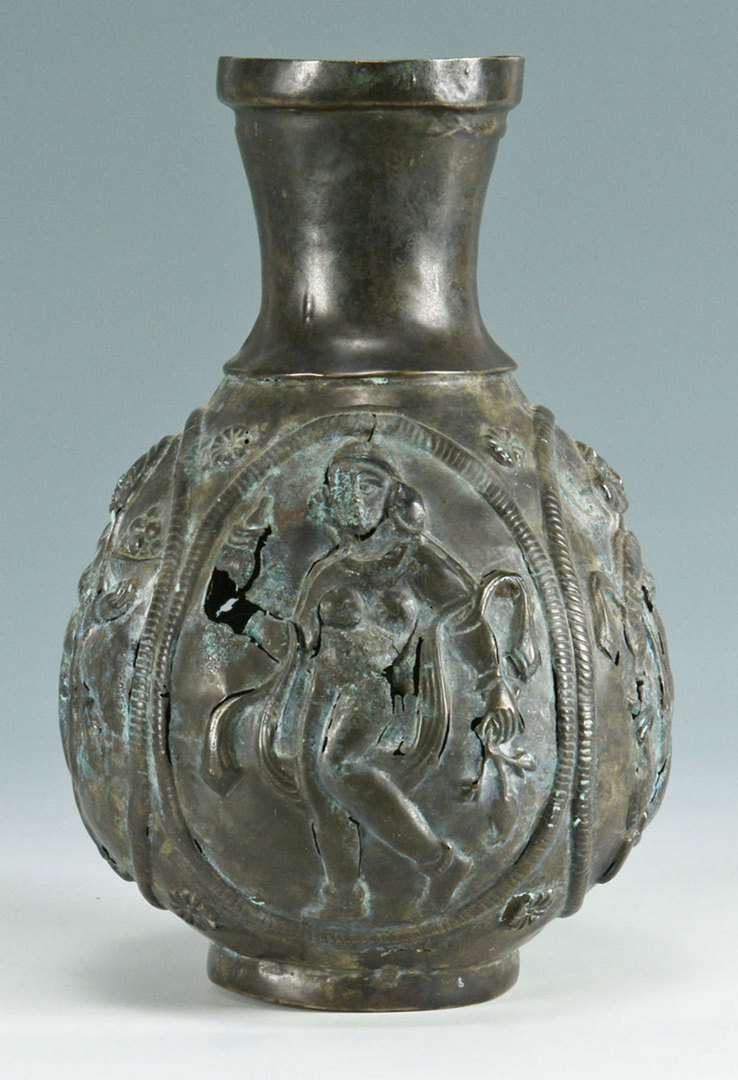 Lot 297: Ancient Near Eastern Silver Vase