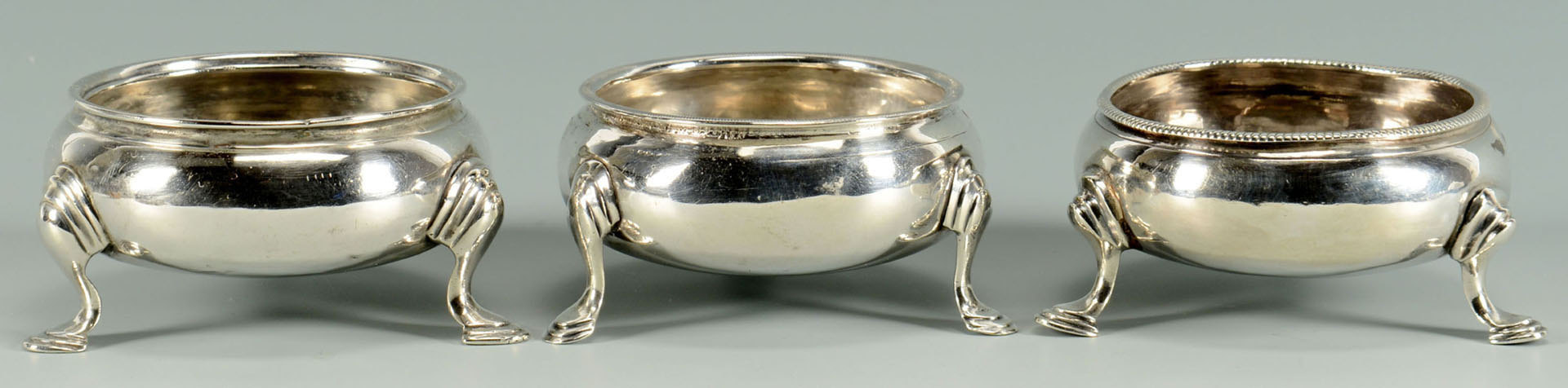 Lot 303: 5 English Silver Salts