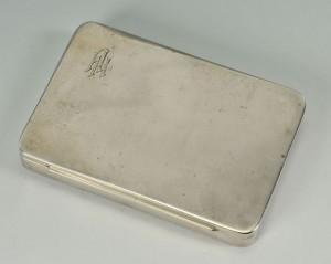 Lot 305: German Silver Cigarette Case w/ AH monogram, c. 19