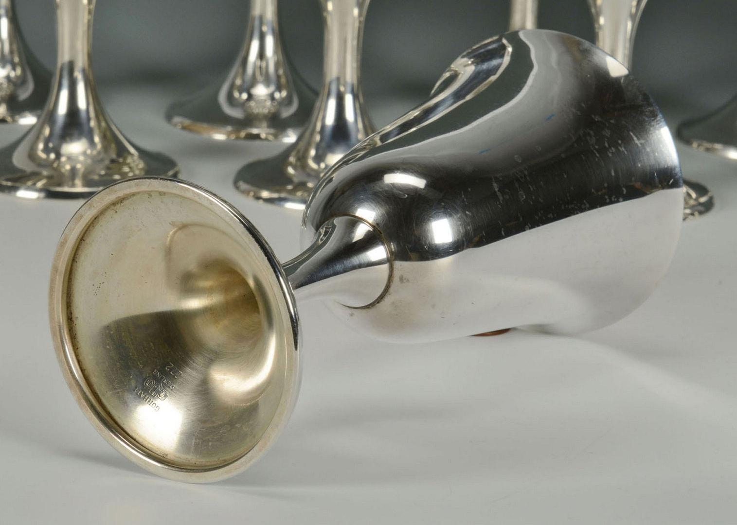 Lot 306: Set of 12 Gorham Sterling Goblets