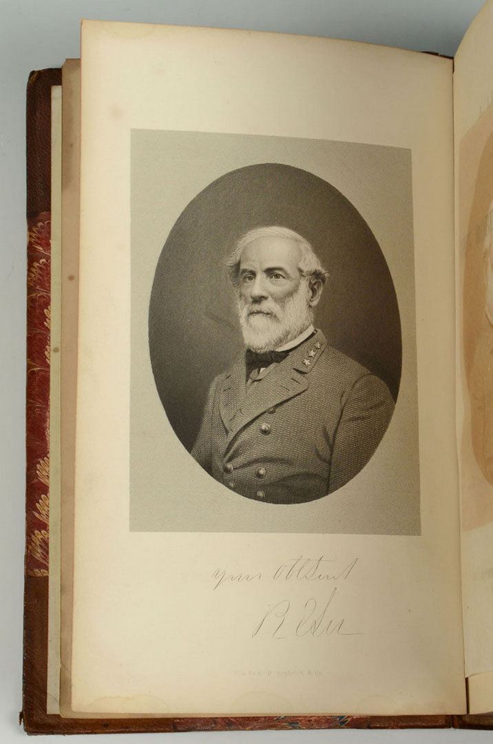 Lot 315: Robert E. Lee carte de visite and two Lee Books