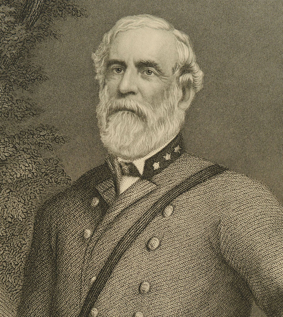 Lot 316: Robert E. Lee engraving by J.C. McRae, NY