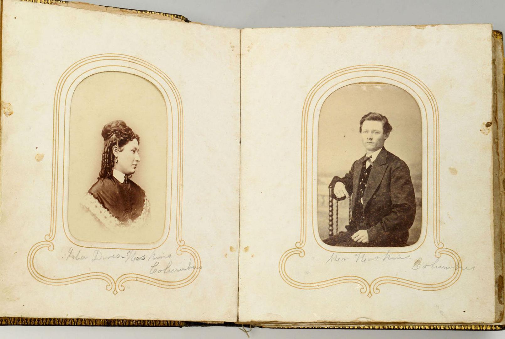 Lot 318: Civil War Era CDV photo album, Wemyss family