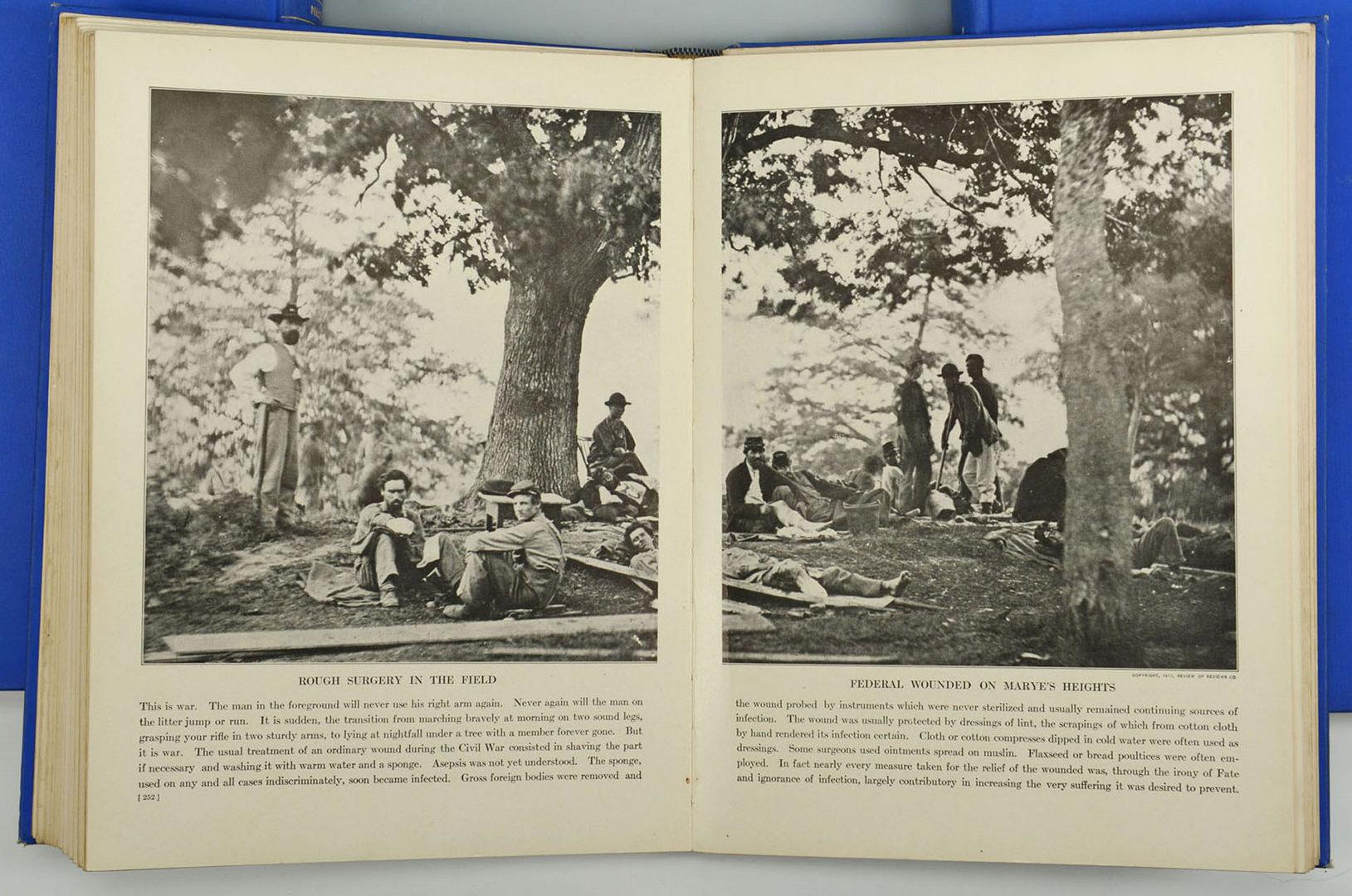 Lot 320: Photographic History of Civil War, 10 Vols, Mille