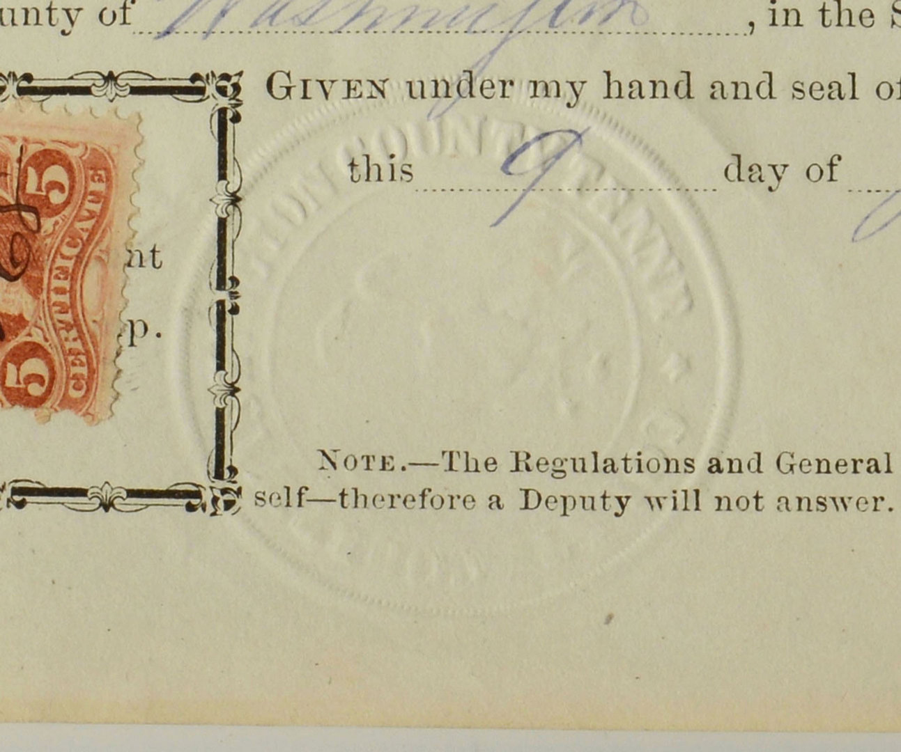 Lot 322: Lot of 3 TN Documents, signed Gov. Brownlow