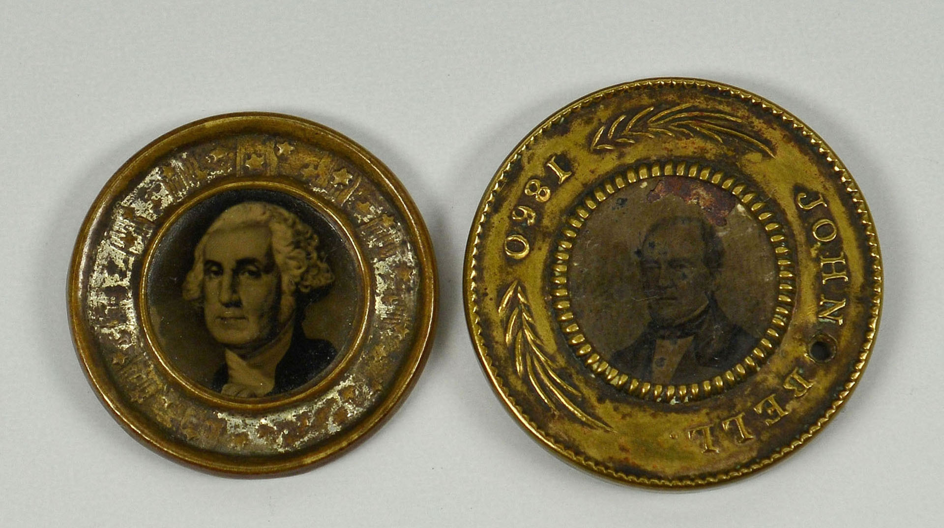 Lot 324: Lincoln and John Bell Campaign items