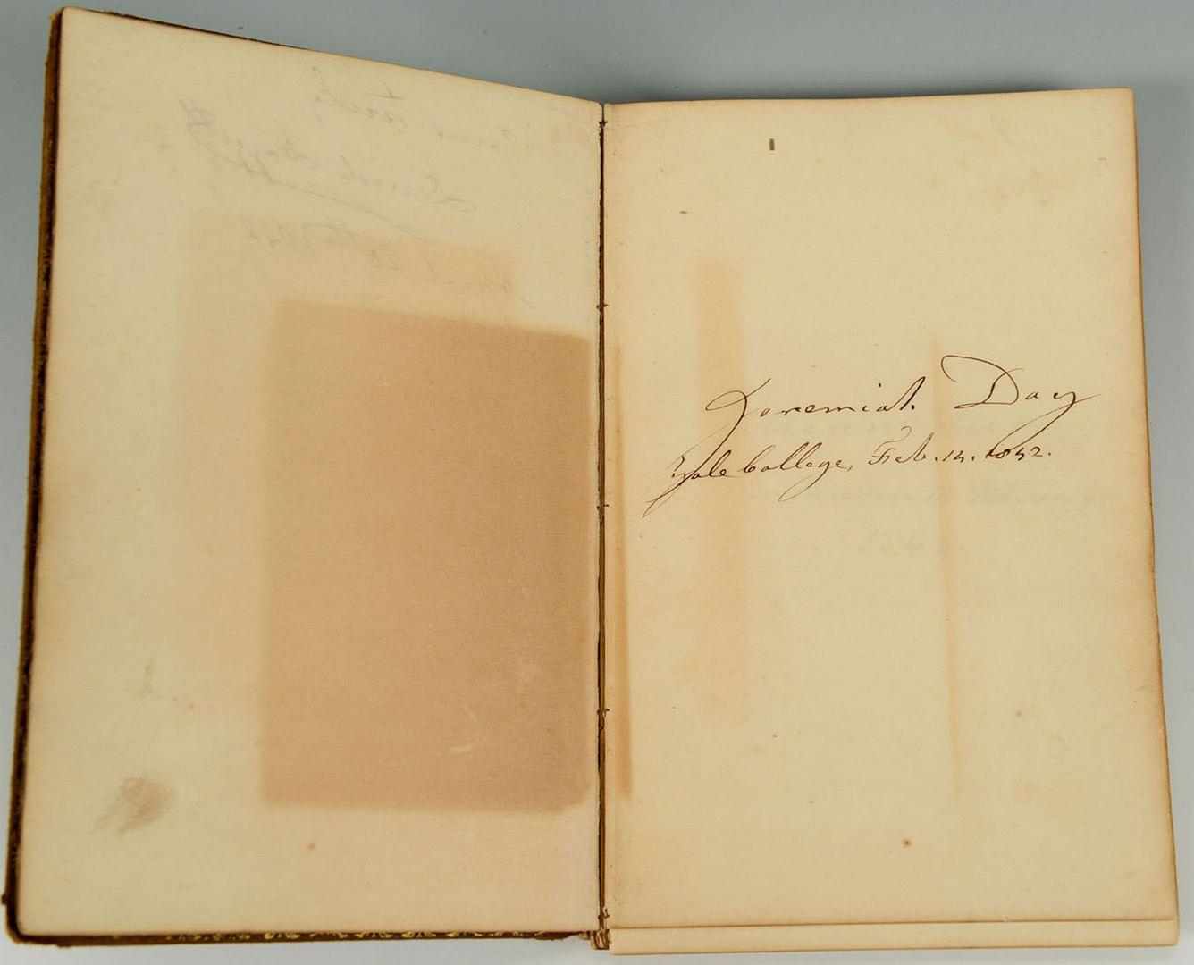 Lot 329: Yale Class 1842 Autographs Bk, incl. Noah Webster