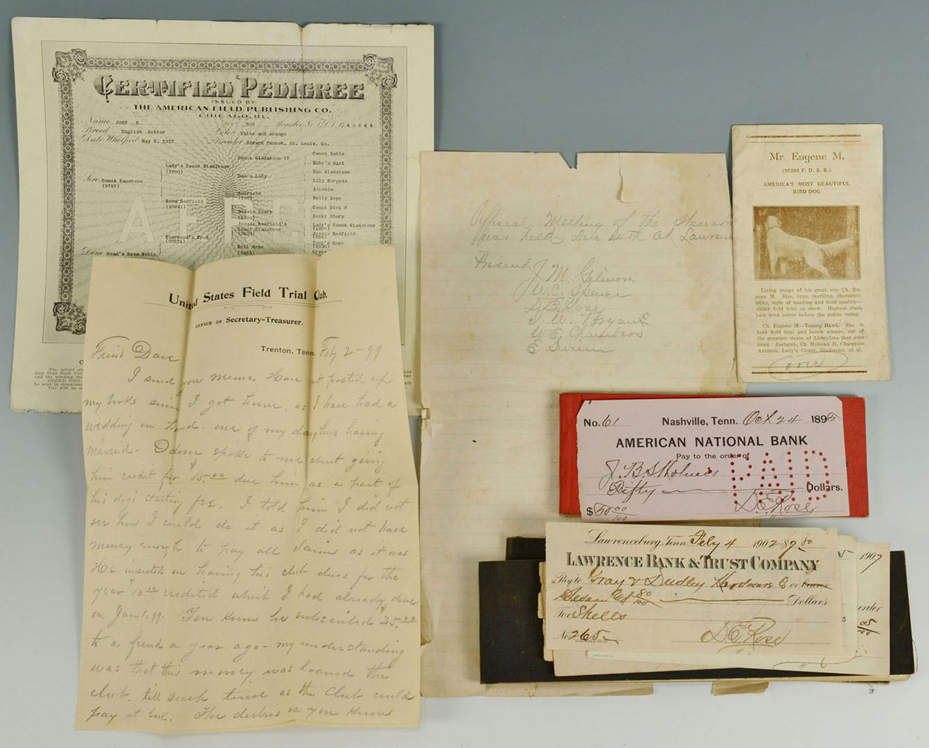 Lot 330: Tennessee History of Bird Dog Training Archive