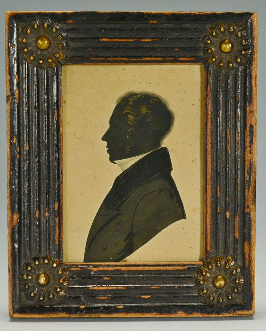 Lot 332: Painted Silhouette of British Gentleman