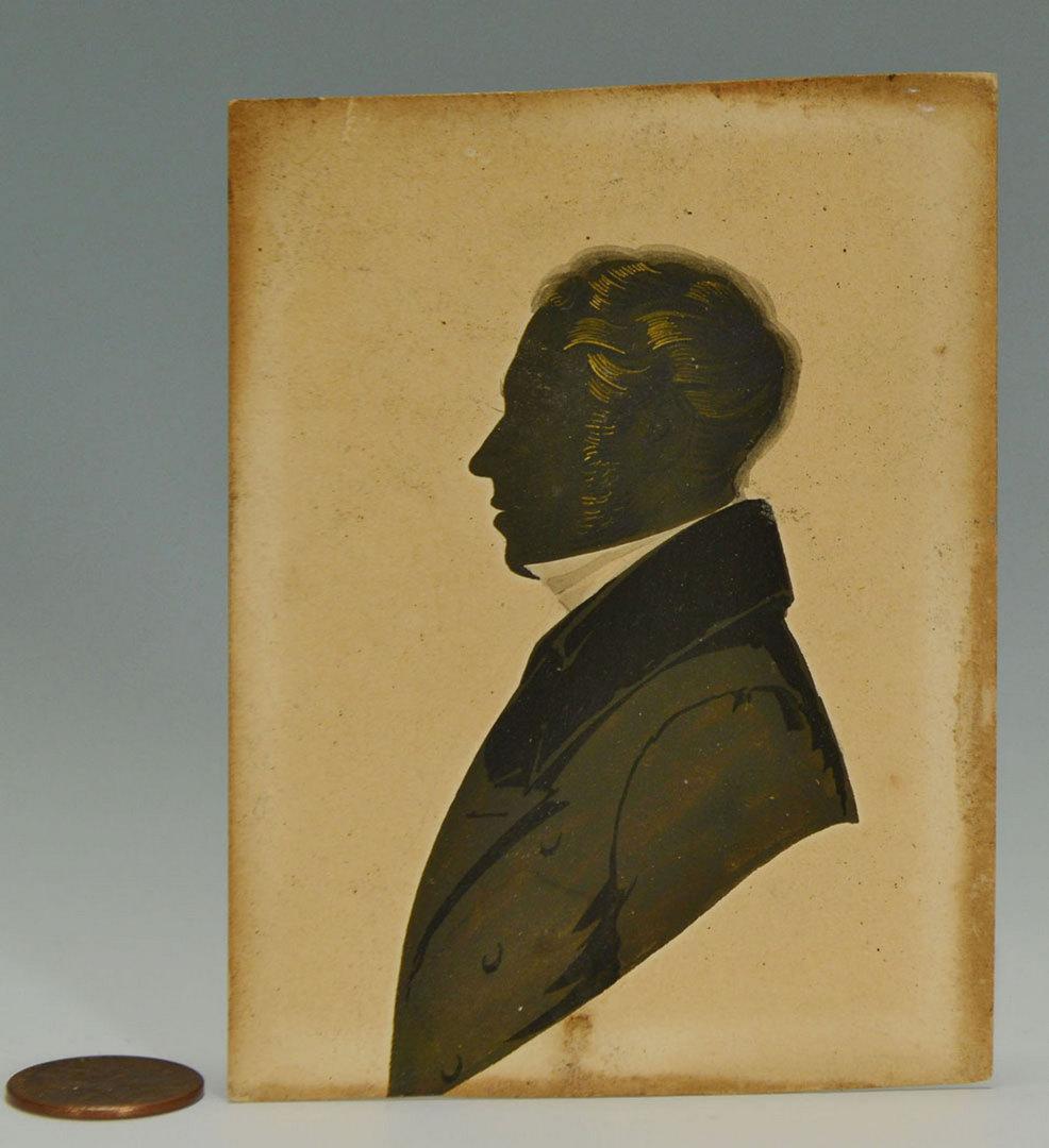 Lot 332: Painted Silhouette of British Gentleman