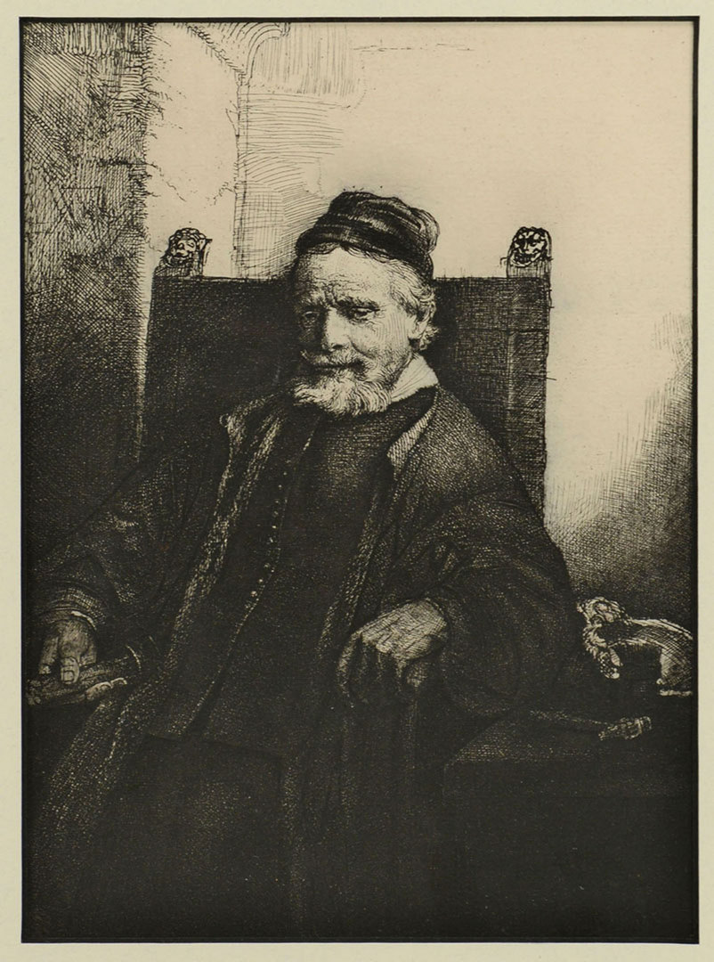 Lot 333: 2 Portrait Plaques and 1 Etching after Rembrandt