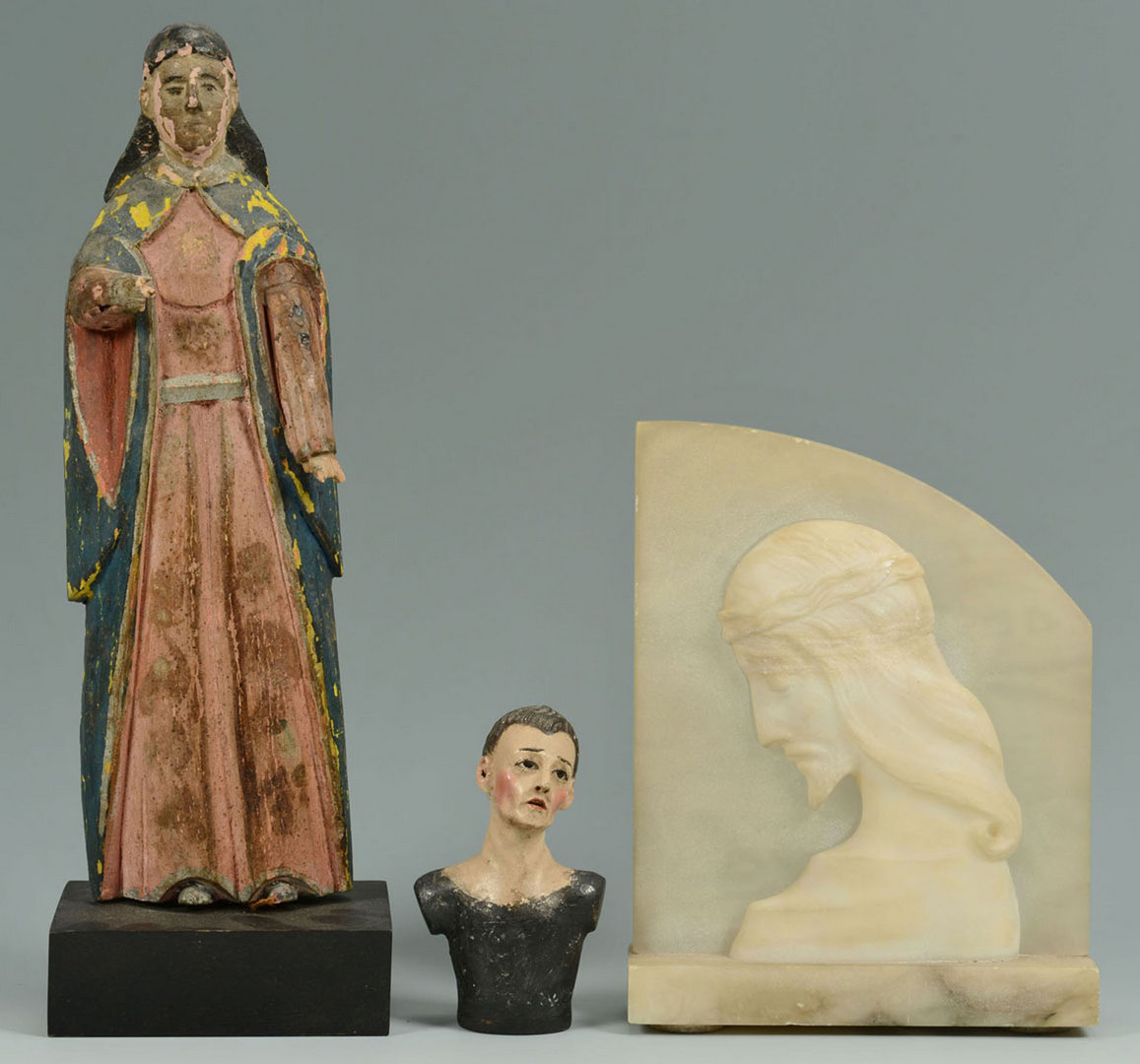 Lot 334: Grouping of Religious Items, including Santos