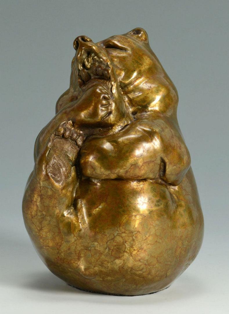 Lot 337: Walt Horton Bronze Bear Sculpture