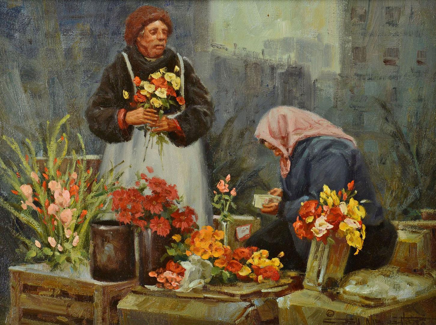 "Lot 339: Gary Niblett Oil on Linen, ""Streets of Warsaw"""