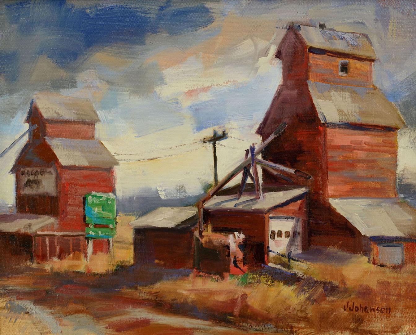 """Lot 340: Jan Johansen Oil on Canvas, """"Hello Hobson"""""""