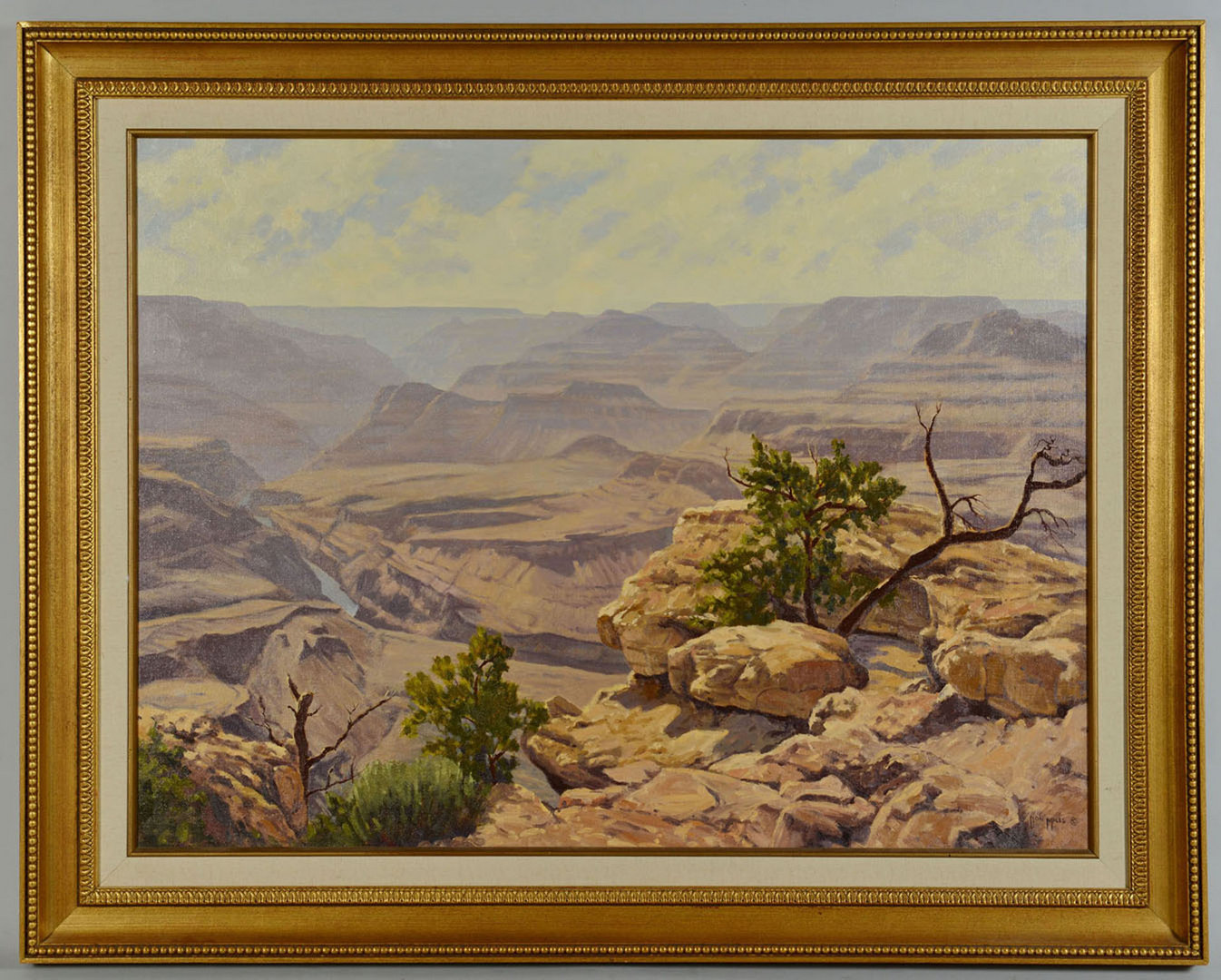 Lot 341: Large Don Miles Oil, Grand Canyon View
