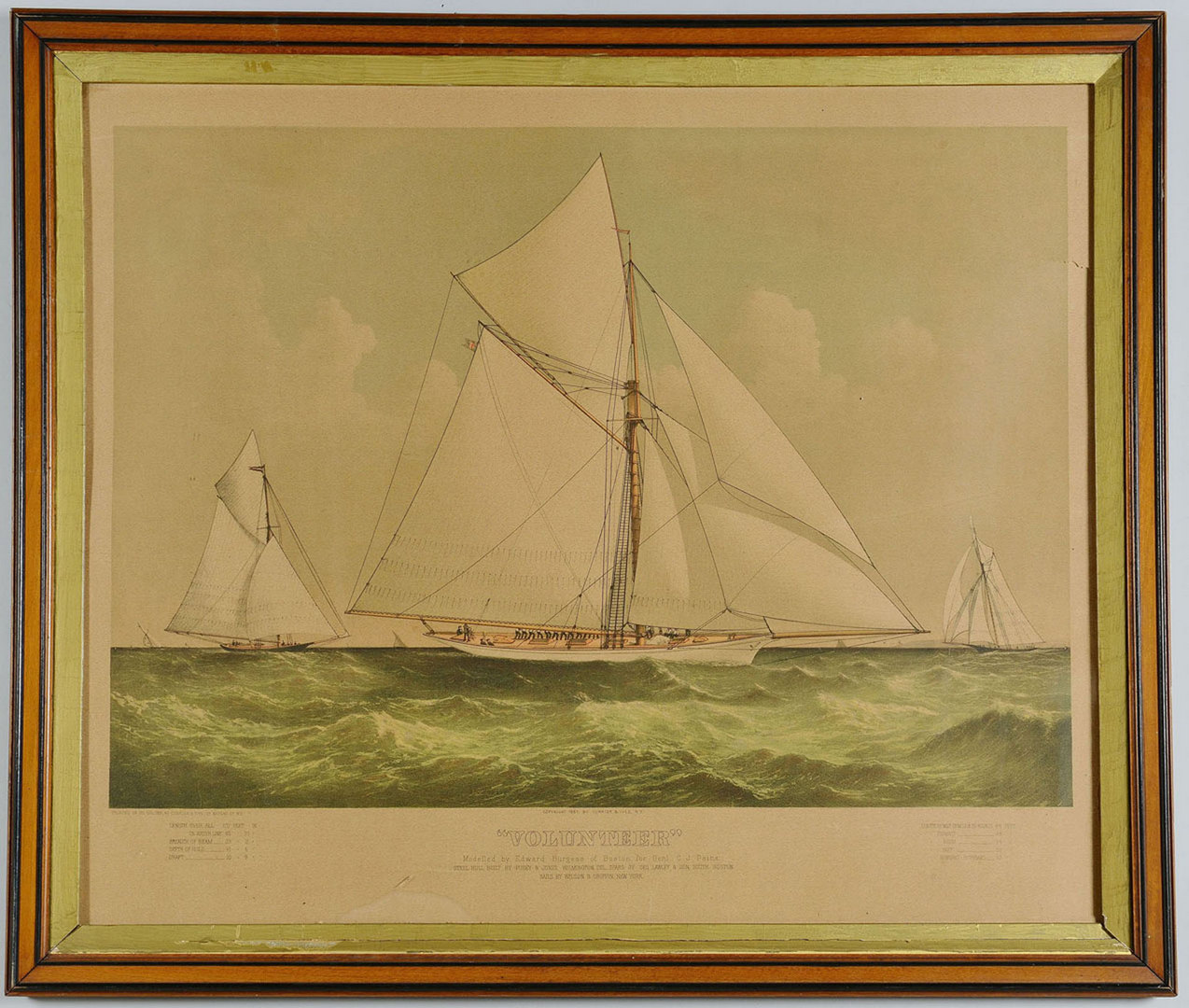 "Lot 345: Currier and Ives lithograph, ""Volunteer"""