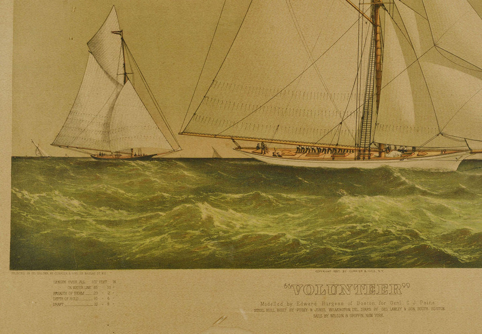 """Lot 345: Currier and Ives lithograph, """"Volunteer"""""""