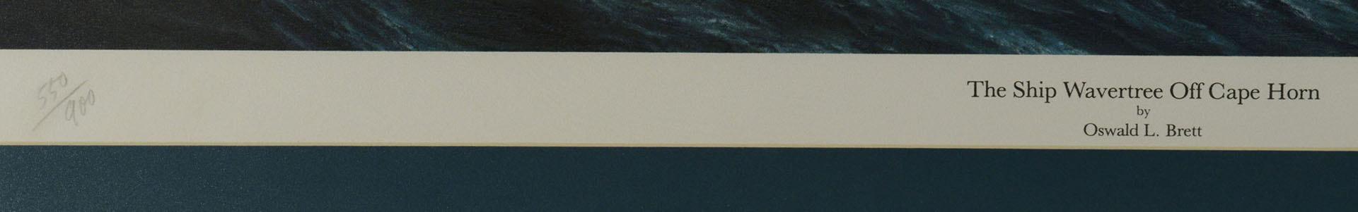 Lot 346: 2 Limited Edition Nautical Prints: Brett & Stobart