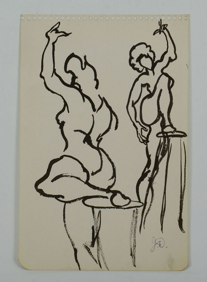 Lot 347: Joseph Delaney, 4 Ink Drawings inc ballet