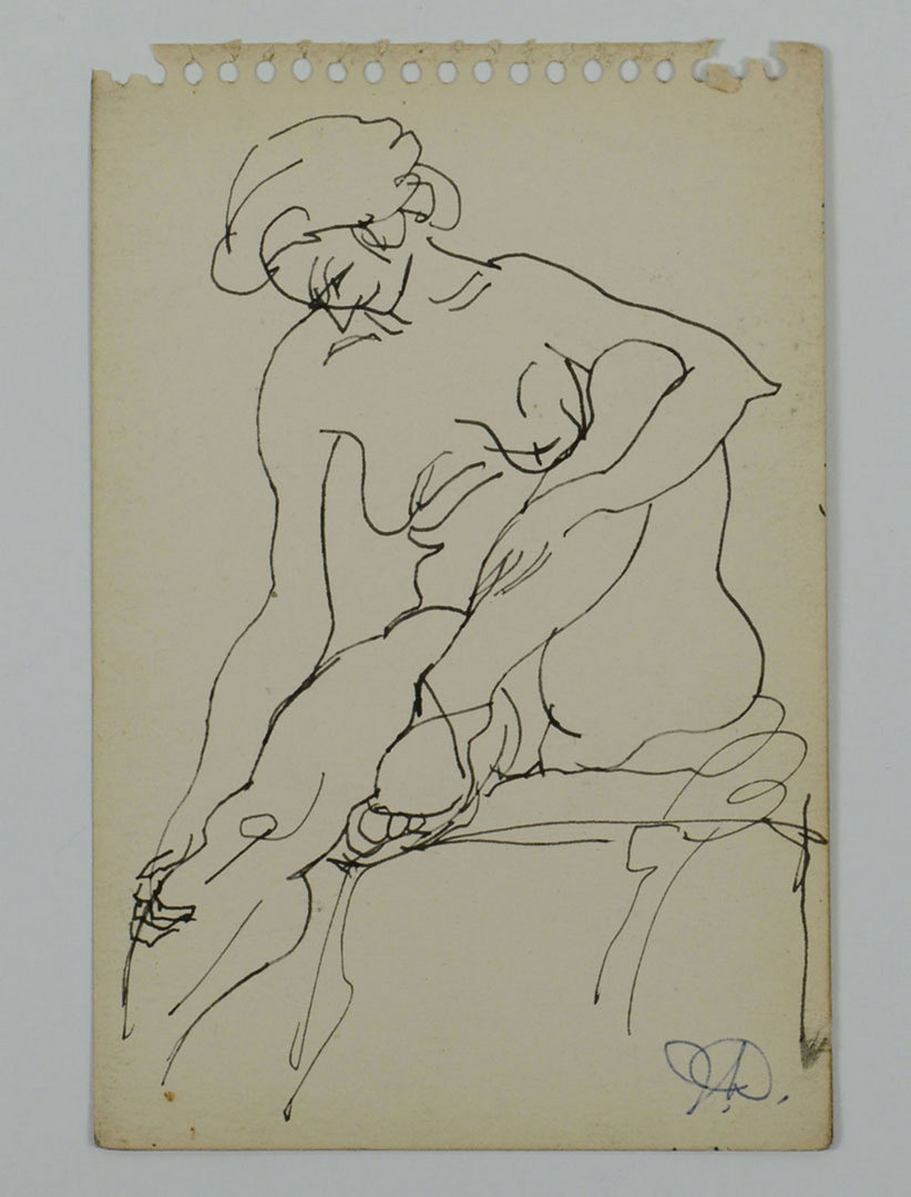 Lot 348: Joseph Delaney, 3 Pen and Ink Drawings inc nudes