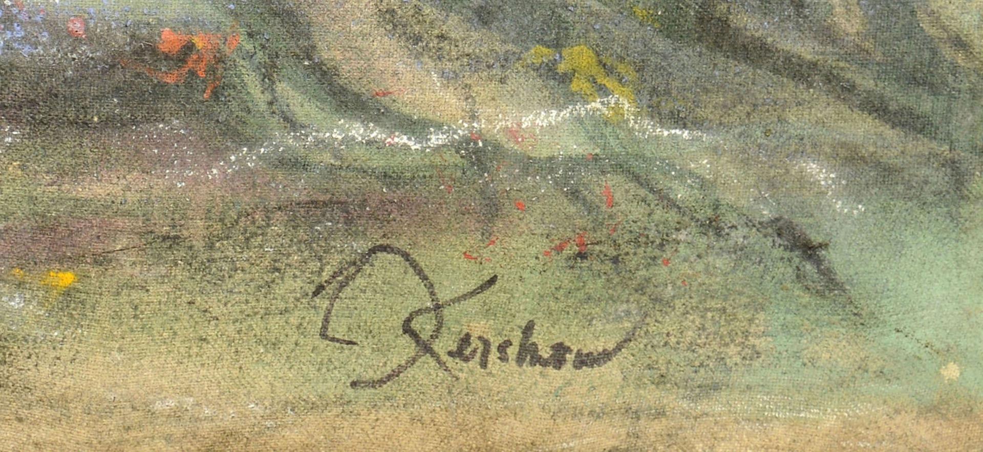 Lot 350: Jack Kershaw o/c, Girl Amid Ruins