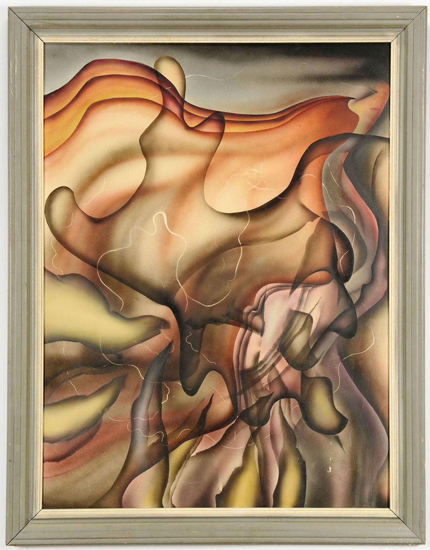 Lot 351: Jack Kershaw, abstract oil on board