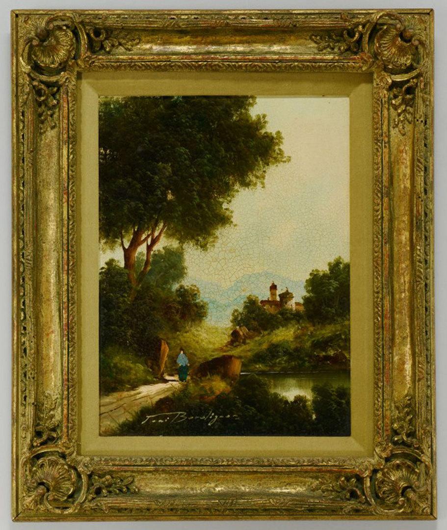 Lot 354: Pair of Toni Bordignon Oil on Canvas Landscapes